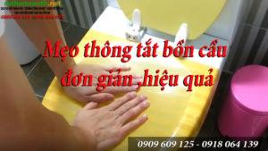 Cách thông tắc bồn cầu hiệu quả   Hotline:0909 609 125 - 0918 064 139
