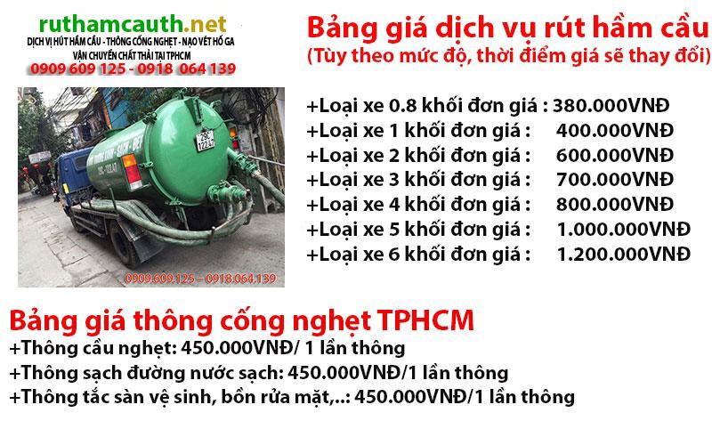 nạo vét hố ga quận Tân phú