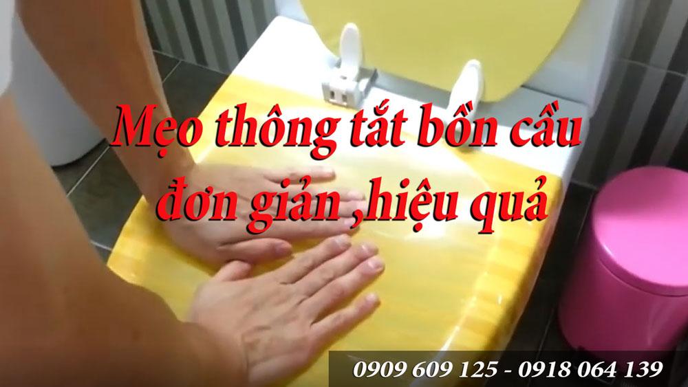 Thông tắt bồn cầu bằng cách nào, thong tat bon cau bang cach nao