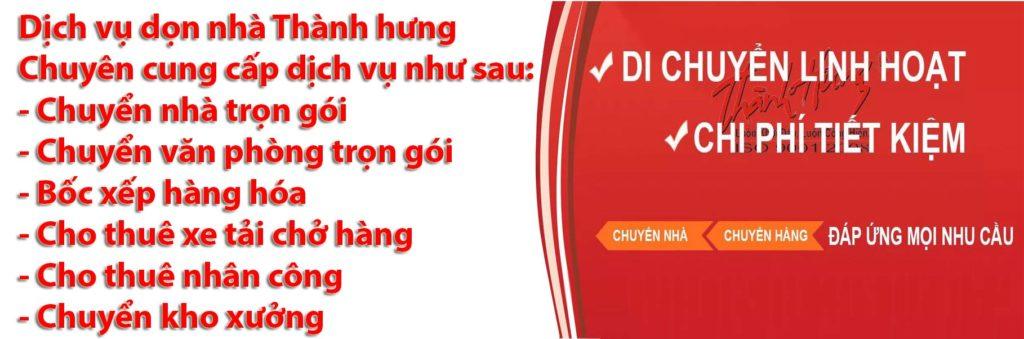 Giá dịch vụ chuyển nhà tại Thành Hưng như thế nào?