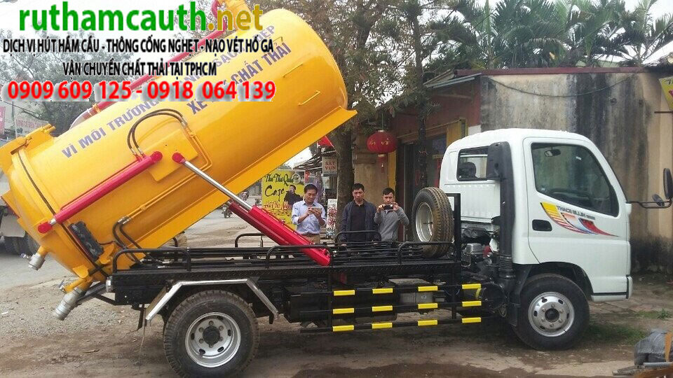 Đóng xe hút bể phốt 2 khối (2m3) tại Hồ Chí Minh