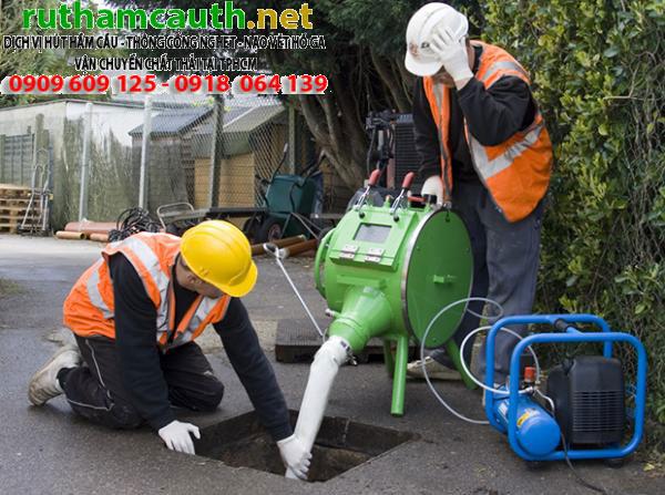 Dịch vụ rút hầm cầu, thông cống nghẹt