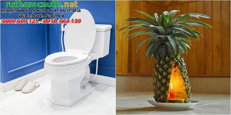 Khử mùi hôi nhà vệ sinh, bồn cầu