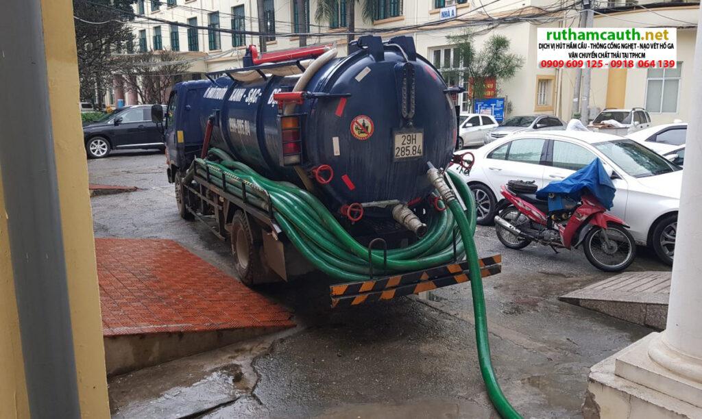 Báo giá xe hút bể phốt quận Phú Nhuận giá rẻ